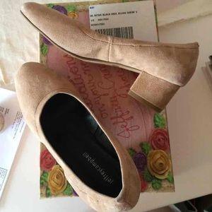 Jeffrey Campbell Suede block heels